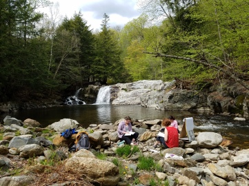VT retreat - waterfall journaling